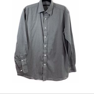 Greg Norman 100% Cotton Button Up Shirt Sz L